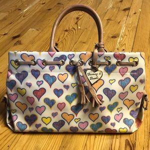 Dooney & Bourke Medium Satchel Doodle Hearts